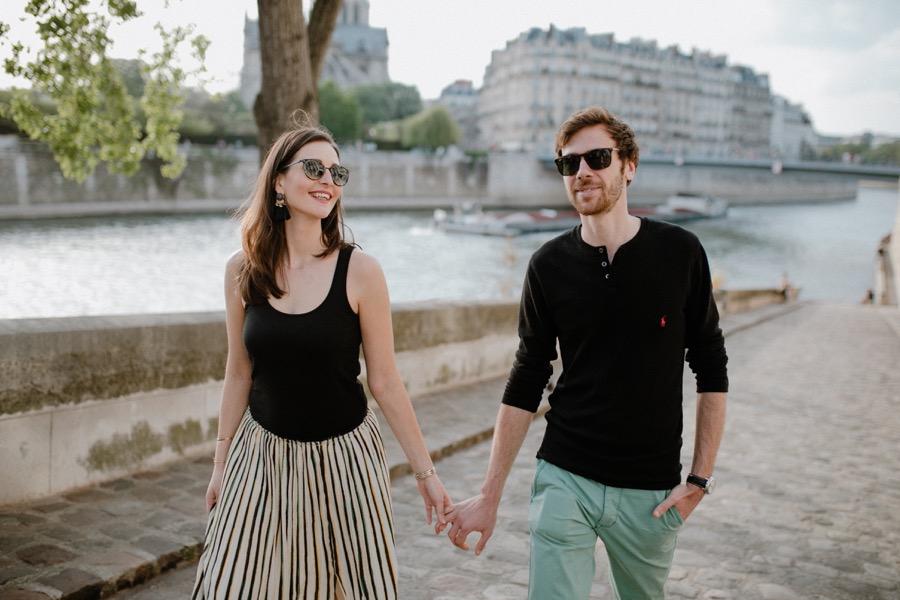 séance engagement dans Paris par Ulrike photographe Tours