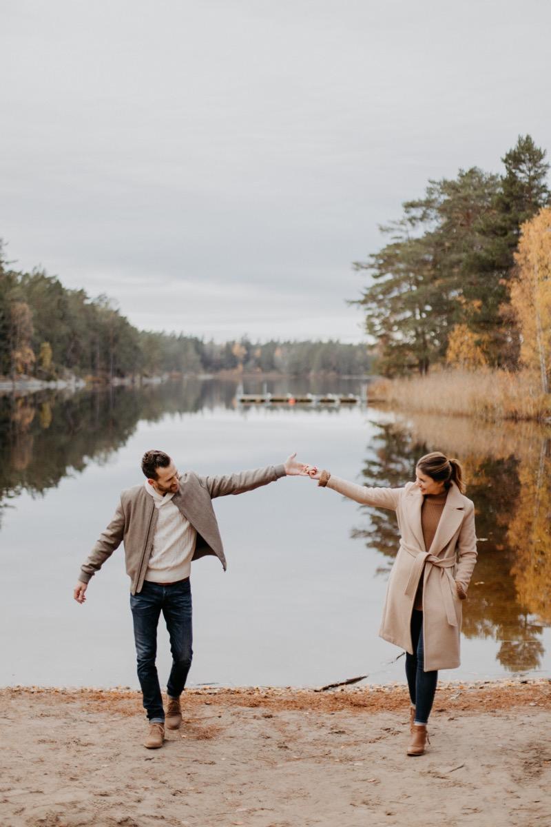 séance engagement à stockholm ulrike photographe tours